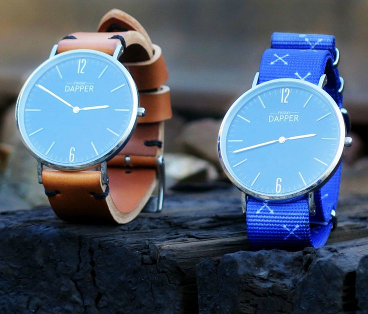 Handmade leather straps and custom nylon straps. This watch is a perfect for any occasion.
