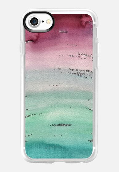 Seasky l art work by Patricia Sodré for Casetify.  #watercolor #iphonecase #abstract #ocean #casetify #patriciasodre