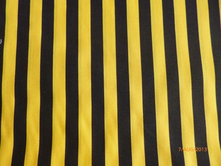 Bumble Bee Stripe Yellow/Black - Polycotton