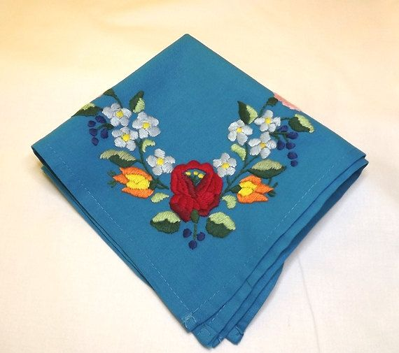 FFREE SHIPPING Vintage napkins Hand by Mariannasboutique on Etsy, $60.00