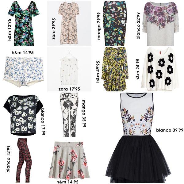 flores en tiendas low cost. tendencia primavera/verano 2014. by anitatxu