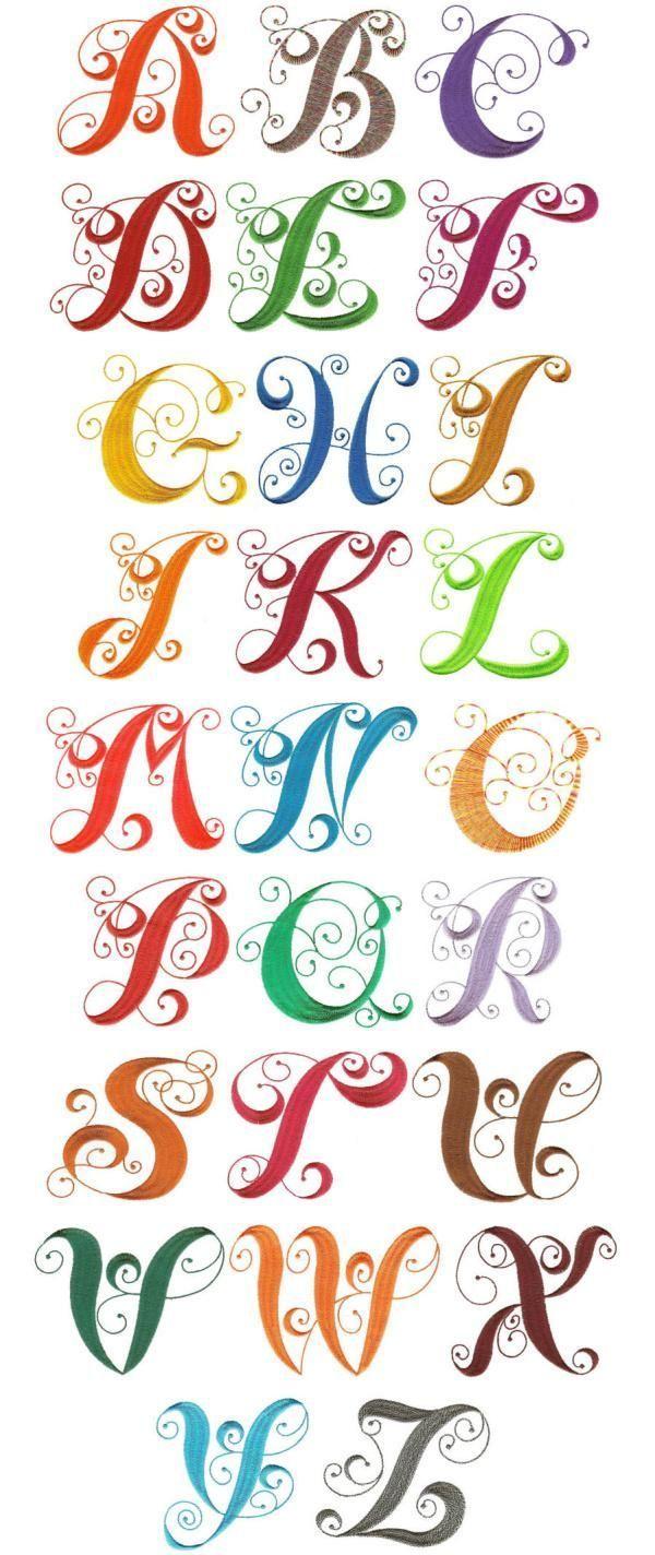 OregonPatchWorks.com – Sätze – Elegantes gelocktes Monogramm-