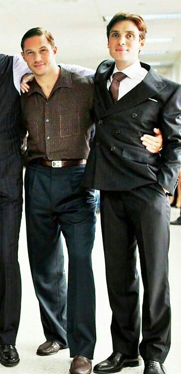 On the set of INCEPTION - Tom Hardy Cillian Murphy