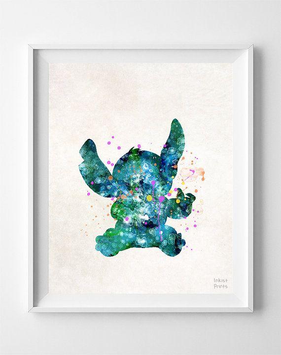 Stitch Disney Print Lilo and Stitch Movie by InkistPrints on Etsy