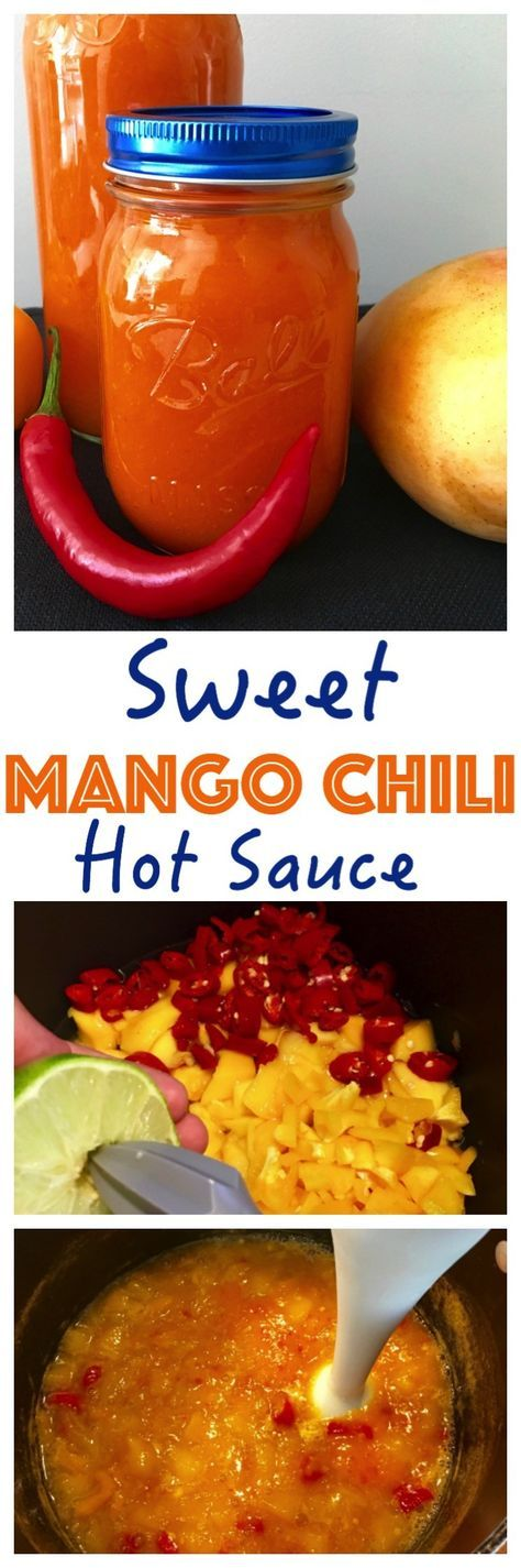 This Sweet Mango Chilli Sauce recipe is awesome as a dip for chicken strips…