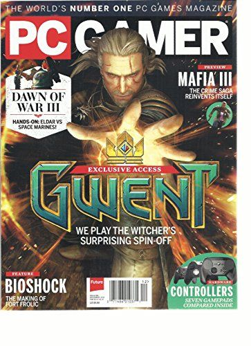 #manythings This auction is for the #DECEMBER, 2016 ISSUE OF PC #GAMER Magazine. The magazine is fresh, We'll pick the best available copy for you!! All magazines...