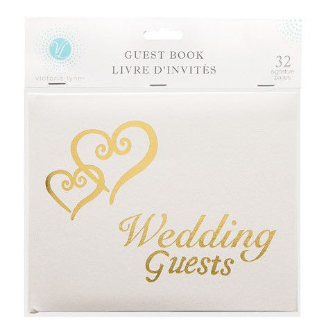 Gold lettering guest book