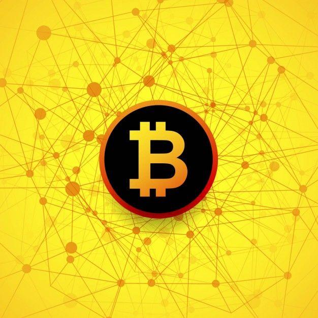 Cartoon Bitcoin - Vettore dipinto fre...