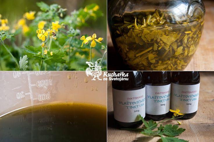 Kvetoucí nať vlaštovičníku naložíme do 60 - 70% lihu a uložíme na 14 dnů v chladné a temné místnosti, denně protřepáváme. Hmotnostní poměr č...
