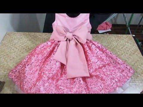 تفصيل وخياطة فستان كلوش للبنات الصغار بطريقة سهلة ومبسطة Youtube Sewing Baby Clothes Baby Dress Patterns Lovely Dresses