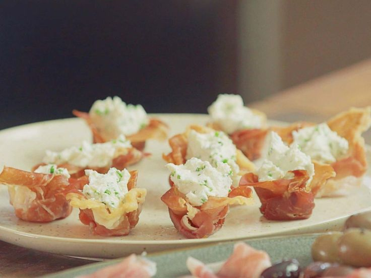 Prosciutto Di Parma Cups with Goat Cheese Mousse | SAVEUR