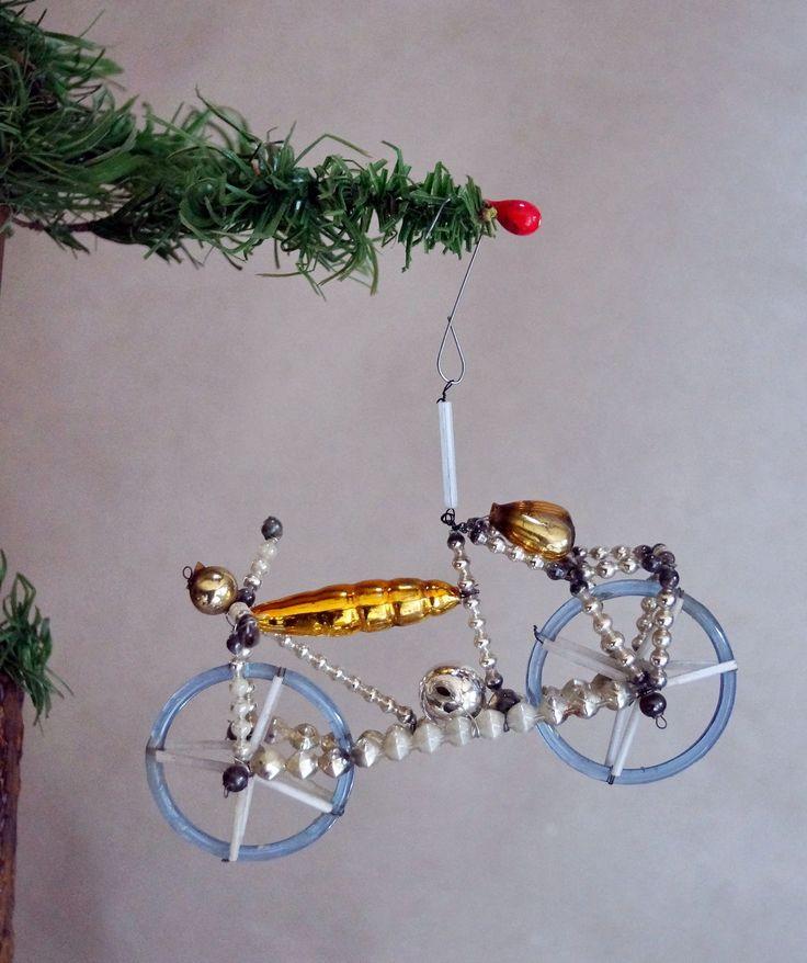 Gablonzer Glasornament Moped Motorrad UM 1930 3815   eBay