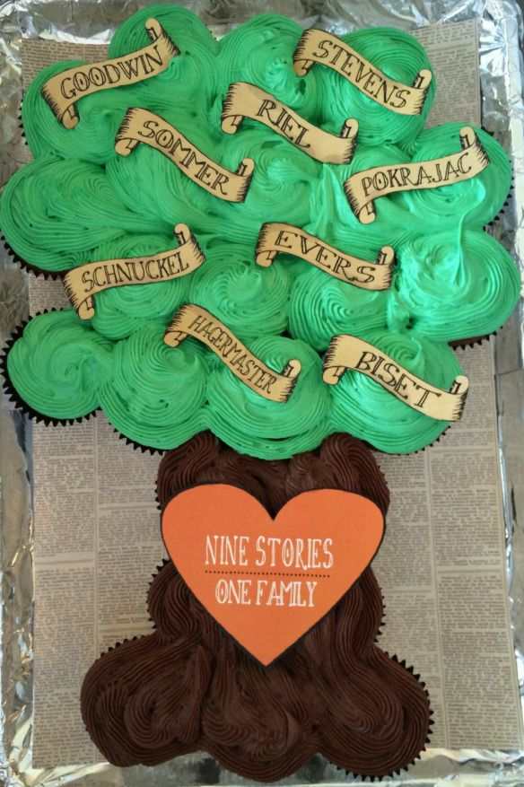 Family Tree Pull-Apart Cupcakes by PASTICHE EVENTS, Chicago | DIY Family Reunion