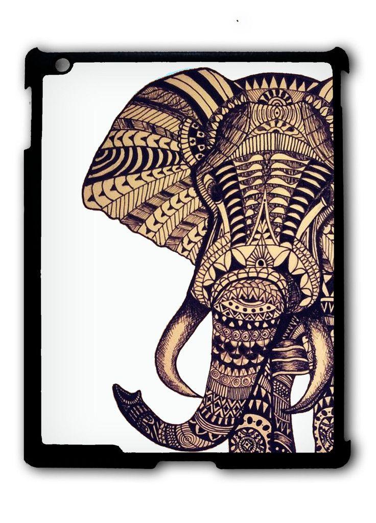 Elephant Aztec iPad case, Available for iPad 2, iPad 3, iPad 4 , iPad mini and iPad Air