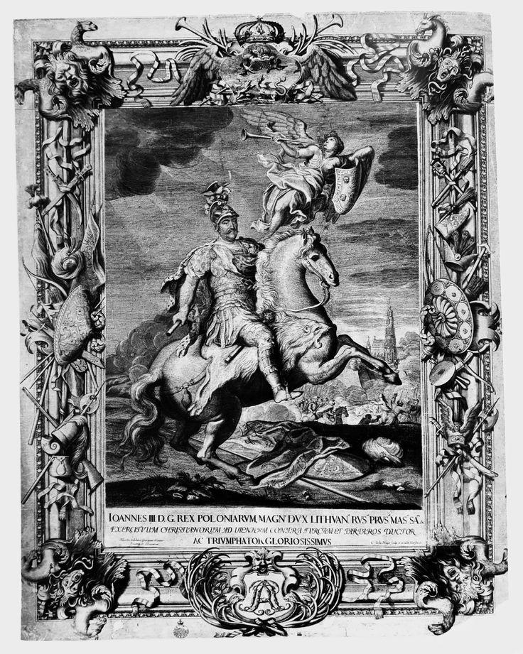 John III Sobieski on horseback by Charles de La Haye after Jerzy Siemiginowski-Eleuter, 1690 (PD-art/old), Muzeum - Zamek w Łańcucie