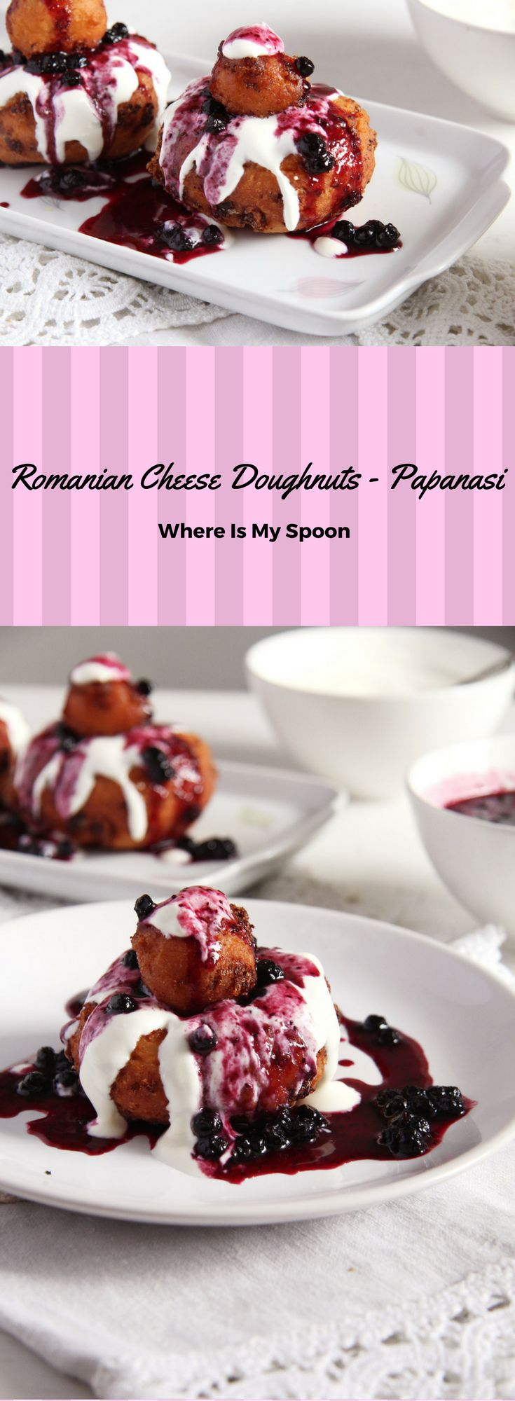 Romanian Cheese Doughnuts – Papanasi