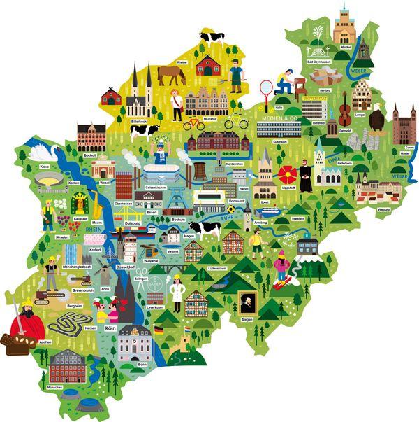 nordrhein westfalen map illustrationjpg 600603