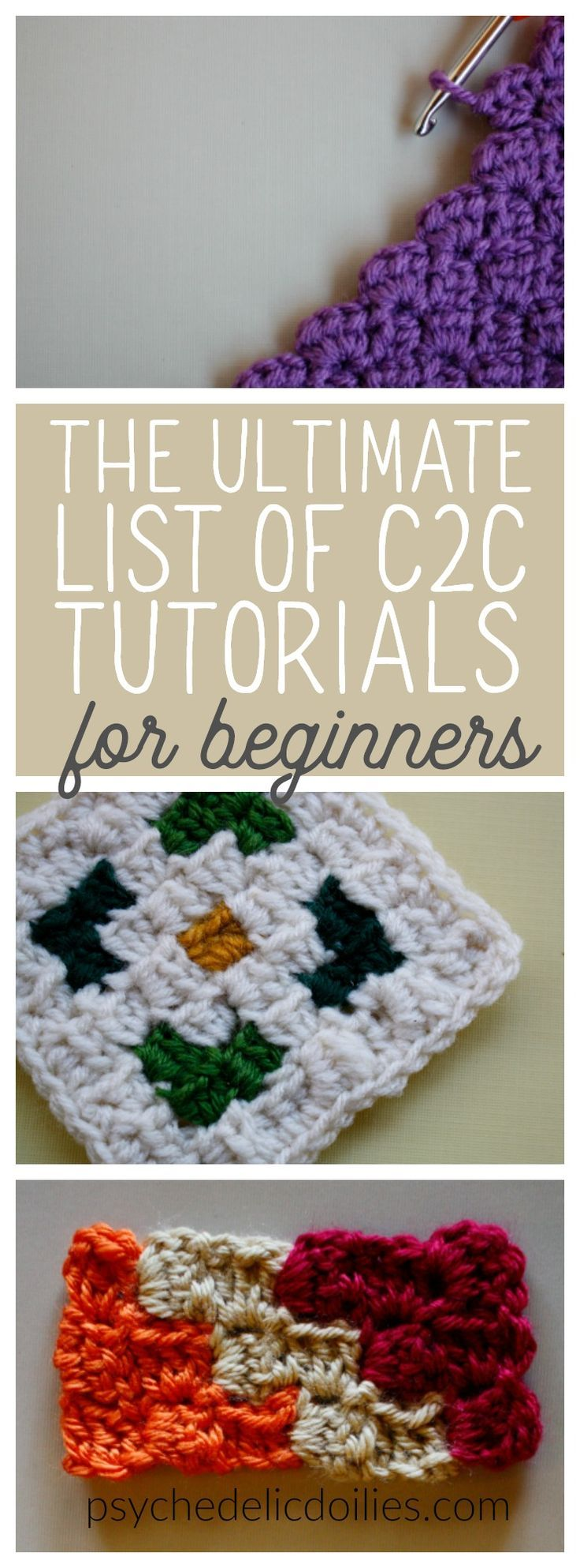 All the tutorials in one place that you need to master c2c. A corner to corner guide for beginners. #crochet