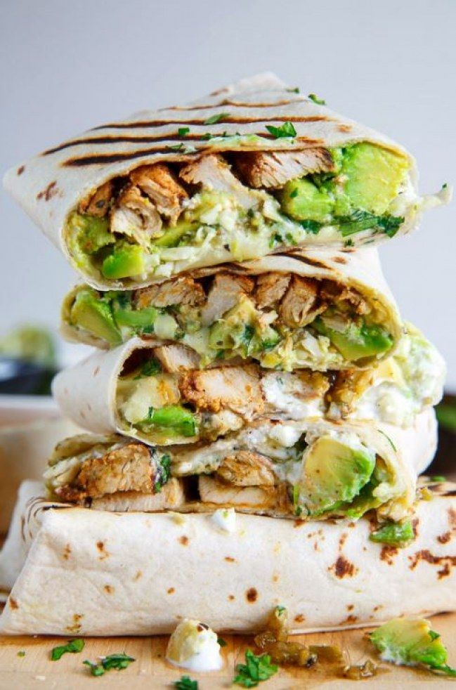chicken avocado burrito