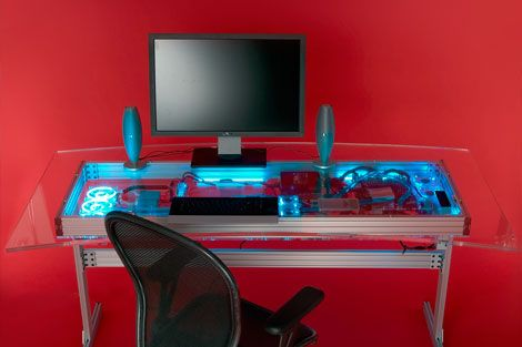 6 Steps To Mod Overkill The Quad Core 1 Kw Liquid Cooled Desk Desks Pinterest Cool Stuff And Pc