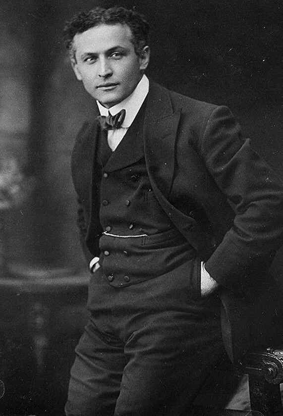 Harry Houdini was born Erik Weisz, later Ehrich Weiss, a.k.a. Harry Weiss (1874-1926) was a Hungarian-born American magician and escapologist, stunt performer, actor and film producer noted for his sensational escape acts. He was also a skeptic who set out to expose frauds purporting to be supernatural phenomena.