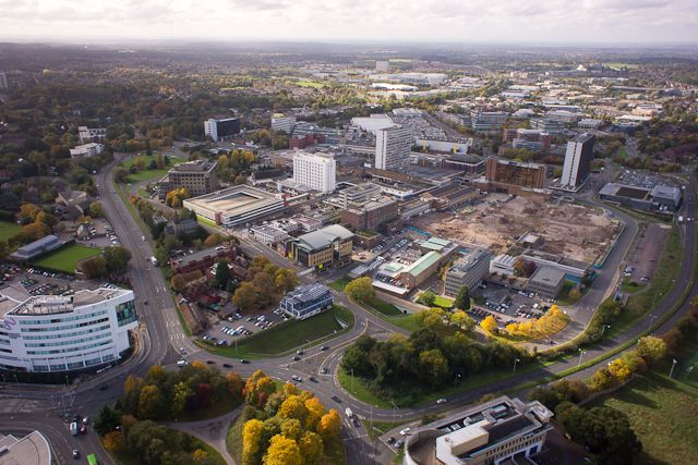 Bracknell Town centre regeneration.  www.helipix.org