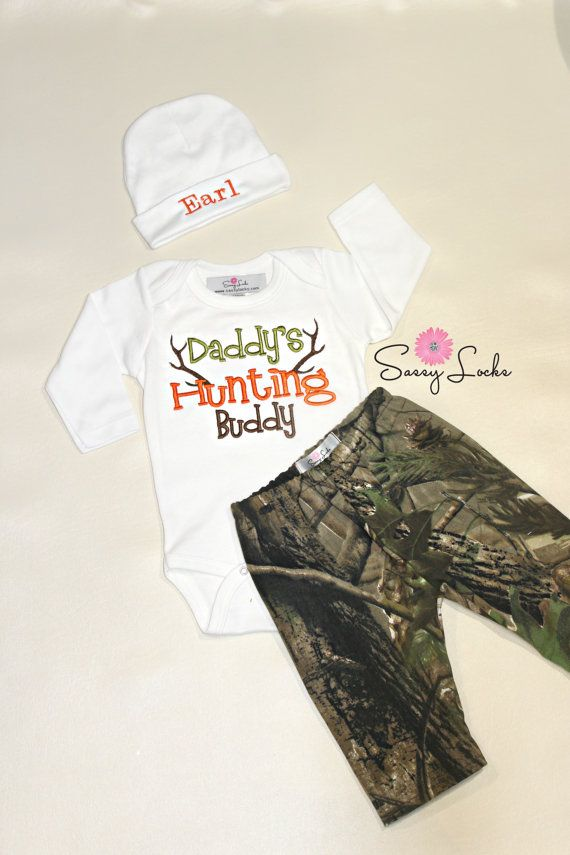 Deer Hunting Baby Boy Coming home Outfit Stag Outfit by sassylocks