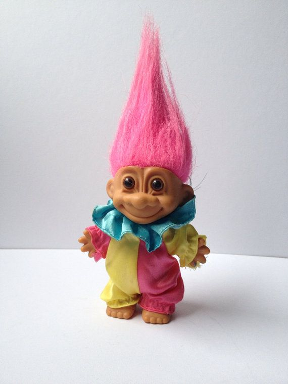Vintage 1980s Russ Troll Doll on Etsy, £7.25