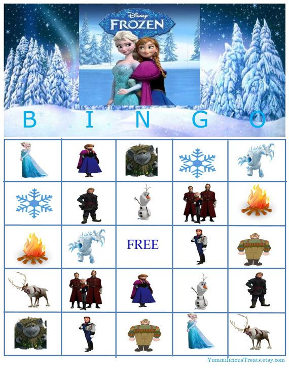 Disney bevroren Bingo Instant Download door YummiliciousTreats
