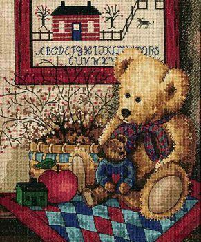 Набор для вышивания Dimensions 13653 Old Teddies Старые Мишки Тедди