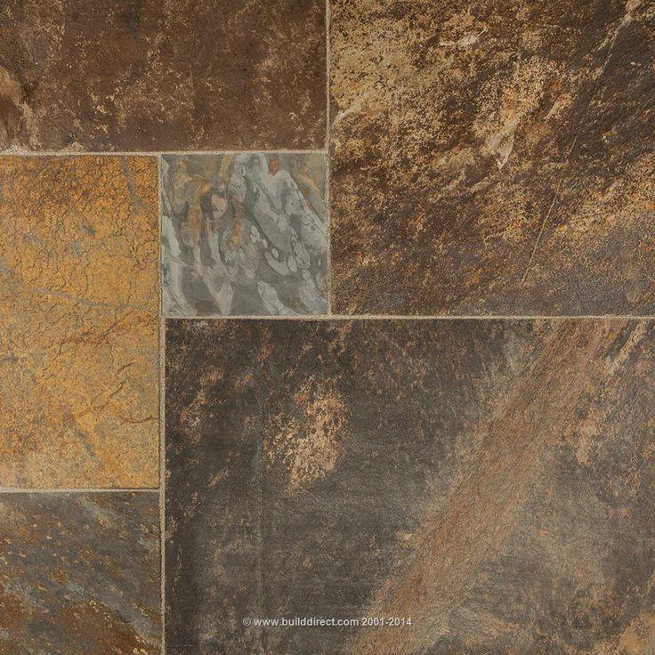 Brown And Slate Blue Living Room: Slate Floor Tiles: Brown Slate Floor Tiles