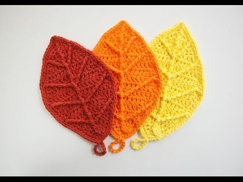 How to Crochet: Happy Autumn Leaves - YouTube