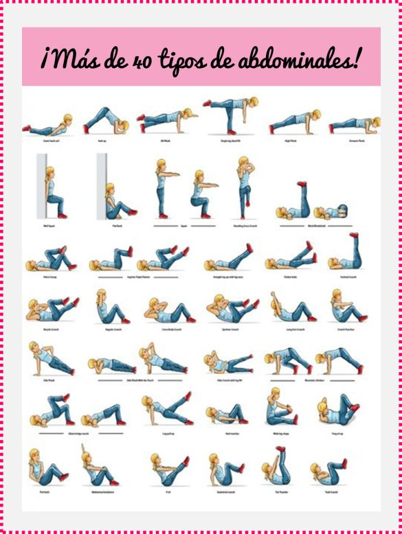 abdominales ejercicios para mujeres - Buscar con Google