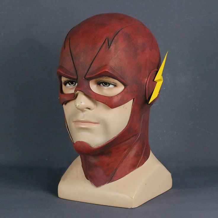 2017 The Flash Mask Cosplay Allen Helmet Halloween Full Face Latex Mask Hood New2