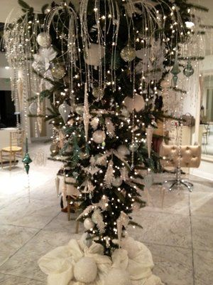 (The first Christmas trees were hung upside down. My mother In Law did this last year, it was gorgeous!