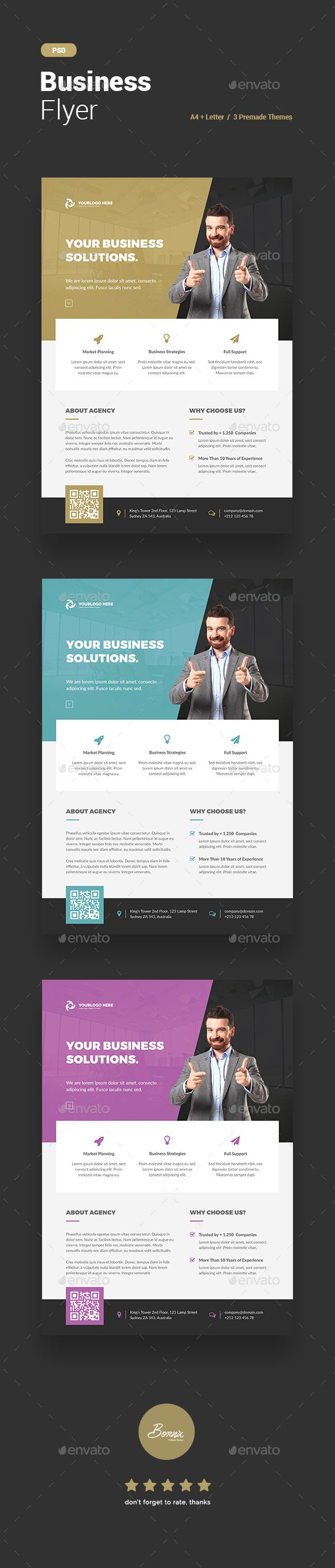 Corporate Business Flyer Design Template - Corporate Flyer Template PSD. Download here: https://graphicriver.net/item/business-flyer/17385904?ref=yinkira