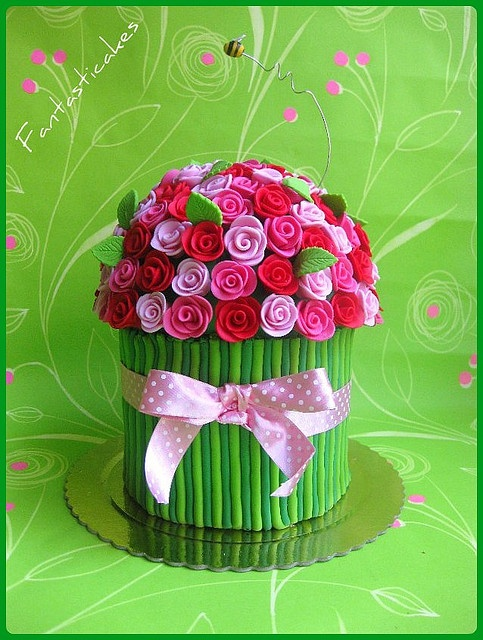 Torta Mazzo di Rose / Bouquet of Roses Cake