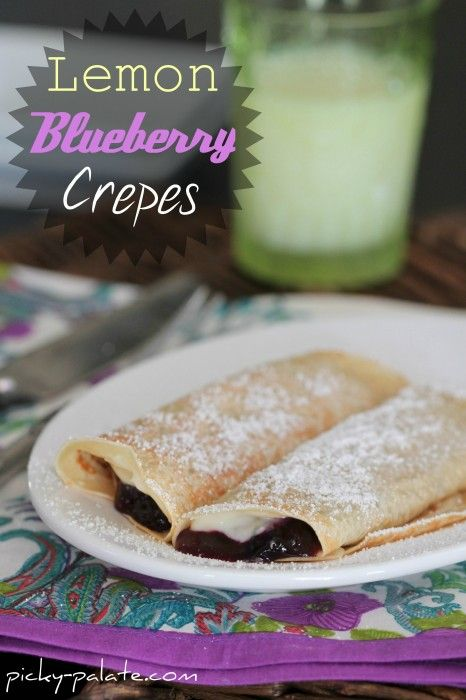 lemon blueberry crepes: Desserts, Crepes Recipe, Breakfast Crepes, Picky Palate, Yummy, Lemon Blueberries Crepes, Favorite Recipe, Creamy Lemon, Food Drinks