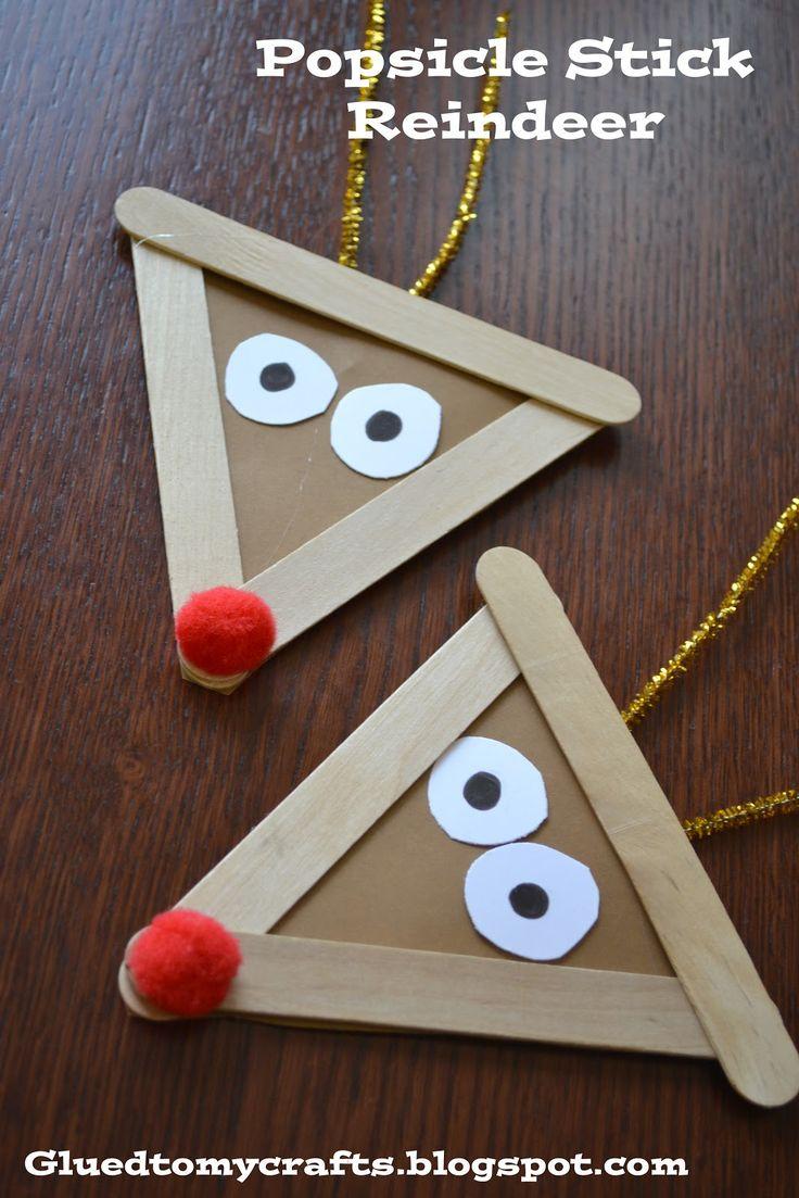 renos para colgar #manualidades #navidad