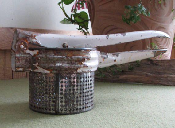 Rustic Potato Ricer Kitchen Tools and Utensils Farmhouse Style