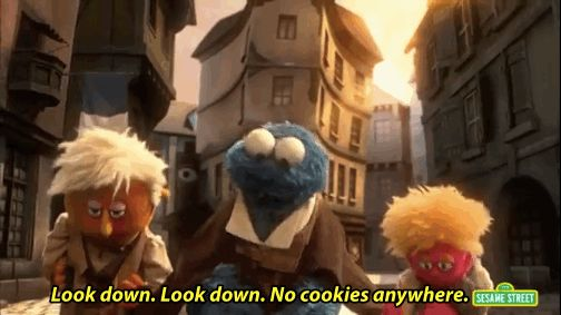 """Cookie Monster plays Jean Bon-Bon, a French man searching for some delicious cookies. 