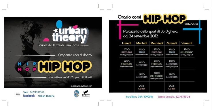 Flyer #Hip #Hop school #Electraglide - Imperia #Italy
