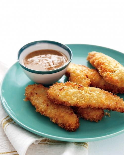 Corn-Tortilla-Crusted Chicken Tenders Recipe. To make this dish gluten-free, use cornstarch in place of the flour.