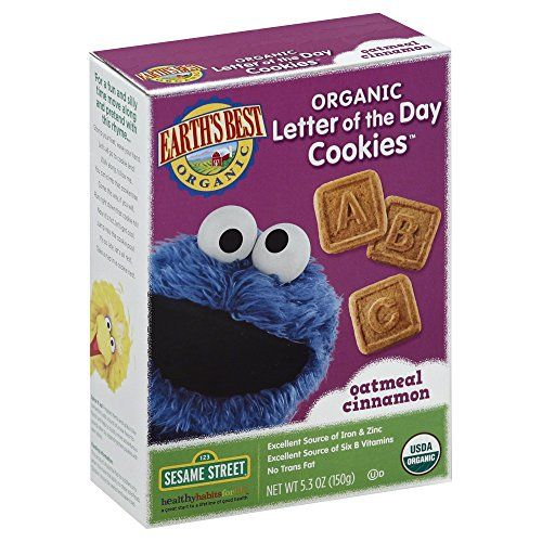 Earth's #Best #Organic Sesame Street Letter of the Day Cookies make snacking nutritious and fun as kids learn their ABCs with every great-tasting bite. They can b...