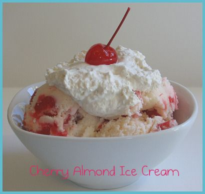 Roasted Cherry Chocolate-Almond Ice Cream Recipe — Dishmaps