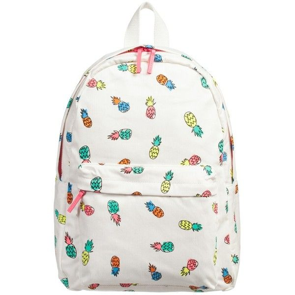 Stella McCartney Kids Ivory 'Bang' Pineapple Backpack (41cm) ❤ liked on Polyvore featuring kids bags