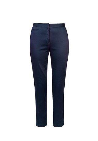 Темно-синие брюки зауженного силуэта
