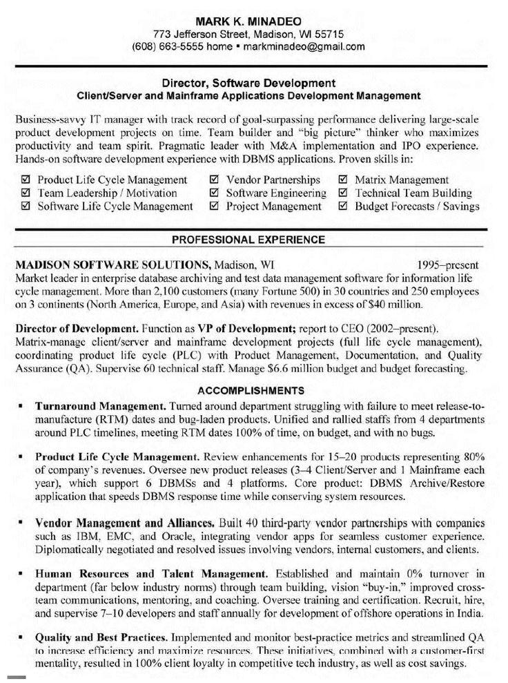 Software Developer Resume Job Resume Examples Resume Resume Software