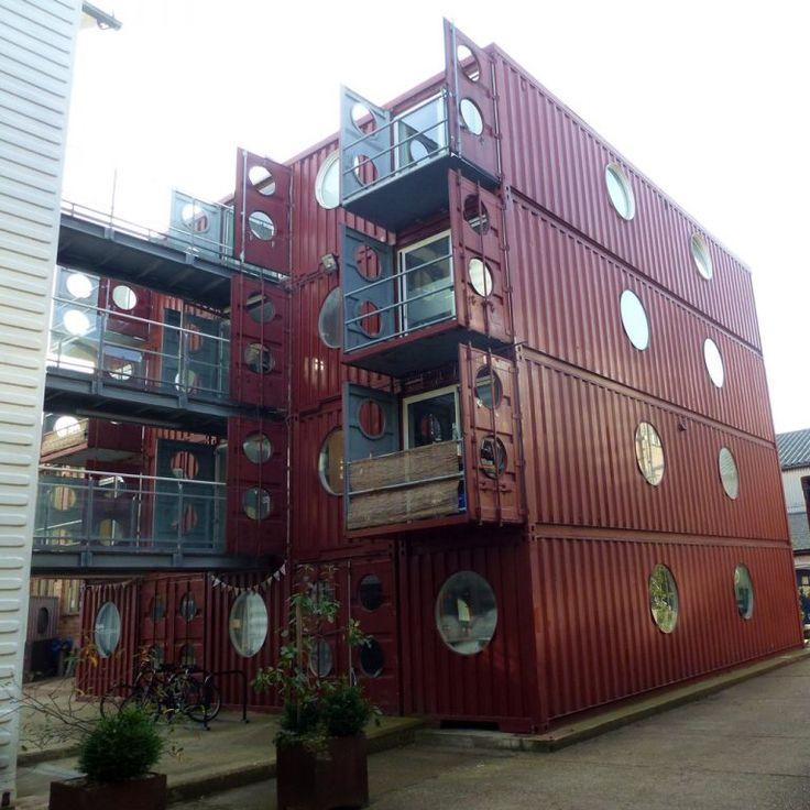 99 besten cabins bilder auf pinterest | containerhäuser, wohnen ... - Container Architektur