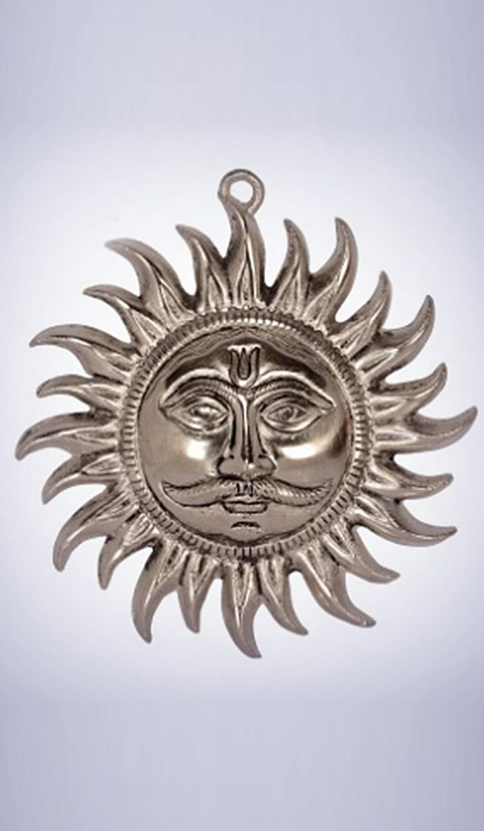 #WallDecor   Silver Finish Sun Wall Decorative Costs Rs. 349. #Handicrafts.